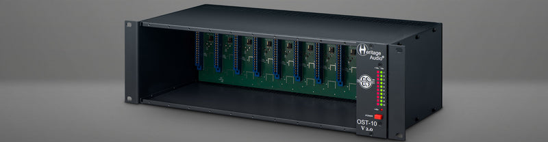 Heritage Audio OST-10 v2 500 Series Enclosure Chassis 10-Slot Rack HAOST10V2