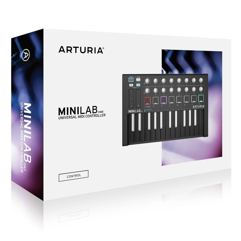 Arturia MiniLab MkII SE 25 Slim-Key Portable Controller with Inverted Keys (Black)