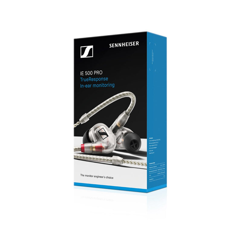 Sennheiser IE 500 Pro Monitor Earphones CLEAR 507480