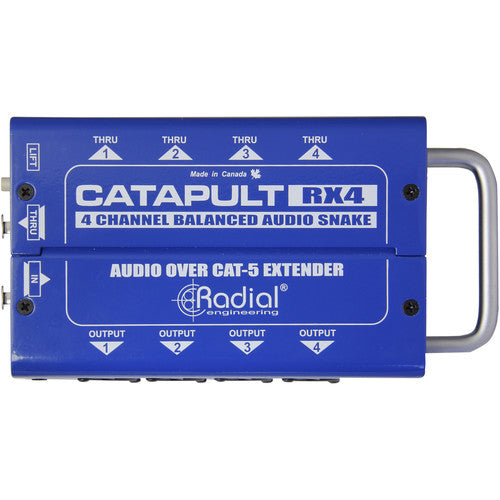 Radial Engineering Catapult TX4M 4-Channel for Microphone Signal Routing over Cat5/6 (Transmitter)