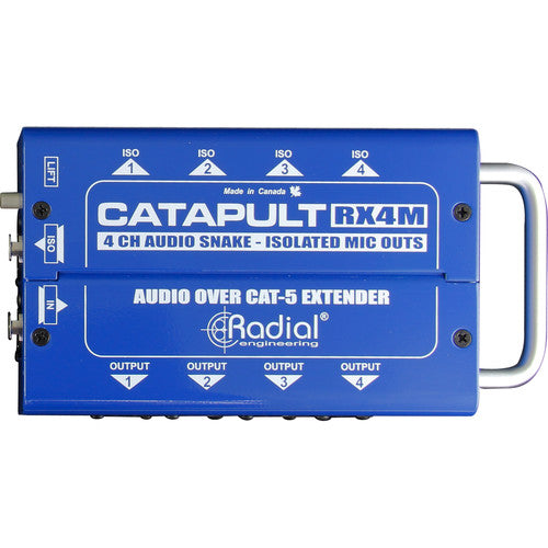 Radial Engineering Catapult RX4M Cat5 Snake for Mic-Level Routing (Receiver)
