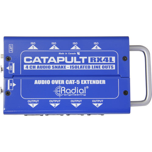 Radial Engineering Catapult RX4L Cat5/Cat6 Snake for Line-Level Audio Routing (Receiver)