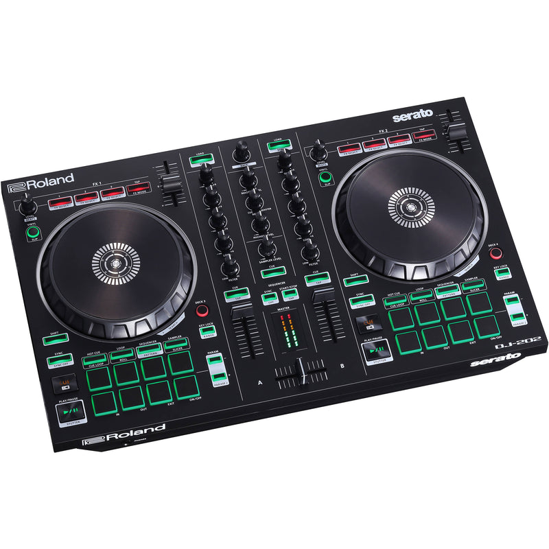 Roland DJ-202 2-Channel, 4-Deck DJ Controller for Serato DJ Lite