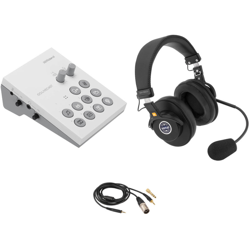 Roland GO:LIVECAST Live Streaming Audio and Video Studio with Broadcast Headset Kit