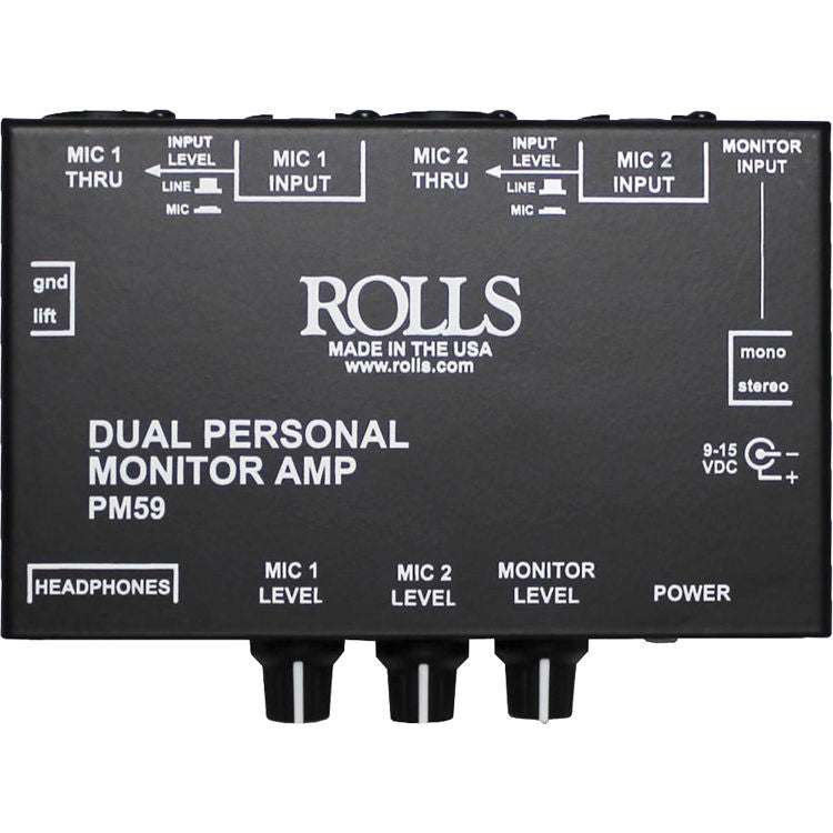 Rolls PM59 Dual Personal Monitor Amplifier