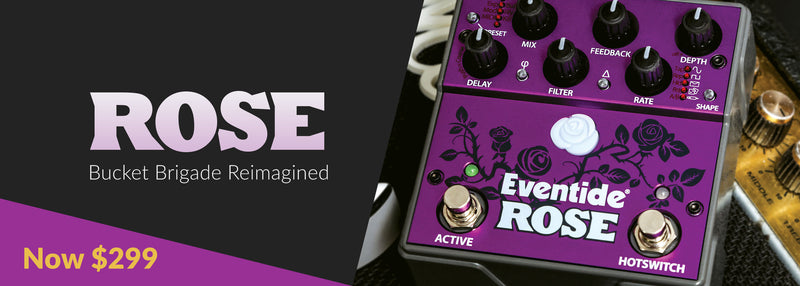 Eventide Rose Modulated Digital Delay Guitar Effects Pedal