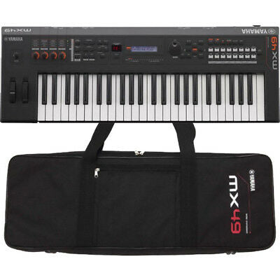 Yamaha MX49 BK Black 49-key Keyboard Synthesizer with Black Gig Bag