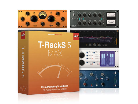 IK Multimedia T-RackS 5 MAX - Powerful Mix & Mastering Software Mac/PC AU/VST 2/VST 3/AAX eDelivery