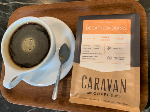 Honduras Decaf Swiss Water Long Black Americano Caravan Coffee