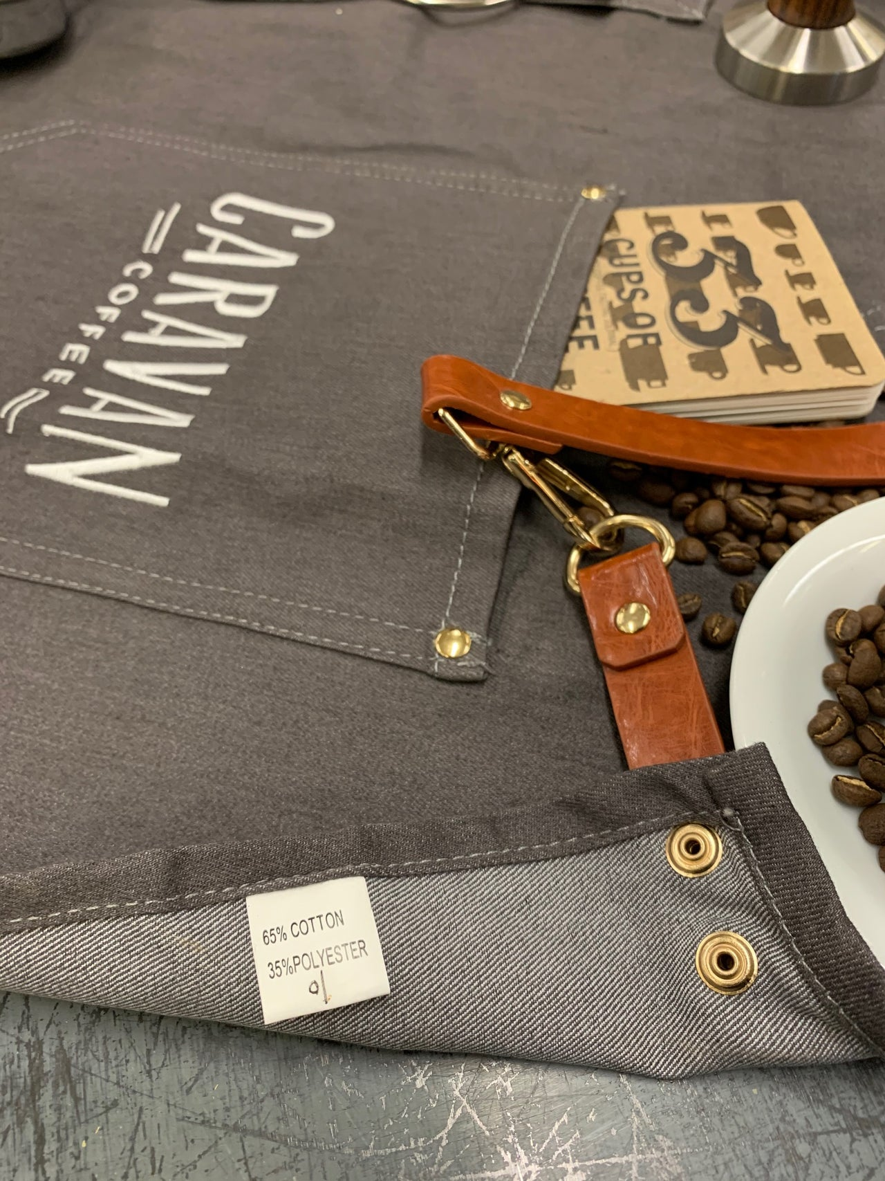 Denim Leather Barista Full Style Work Apron