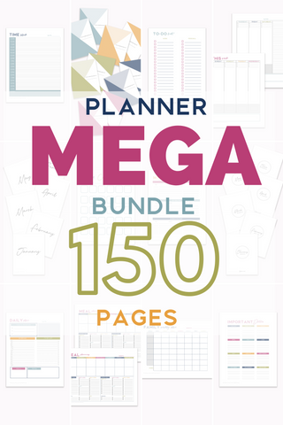 planner mega bundle 150 pages of printables