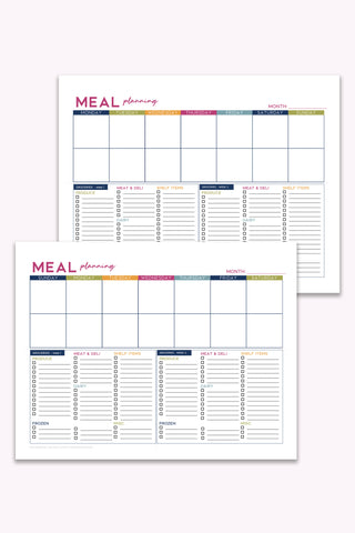 meal planning and grocery shopping printable 2 week