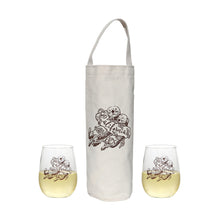 Load image into Gallery viewer, Wine Tote and Glasses Combo