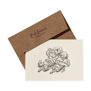 Sea Otter Letterpress Card