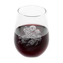 Load image into Gallery viewer, Sea Otter Stemless Wine Glass