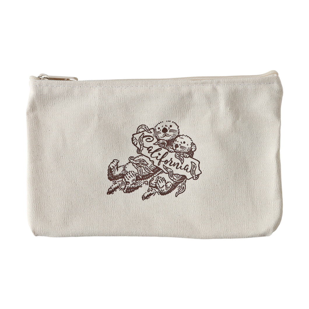 Sea Otter Zipper Pouch