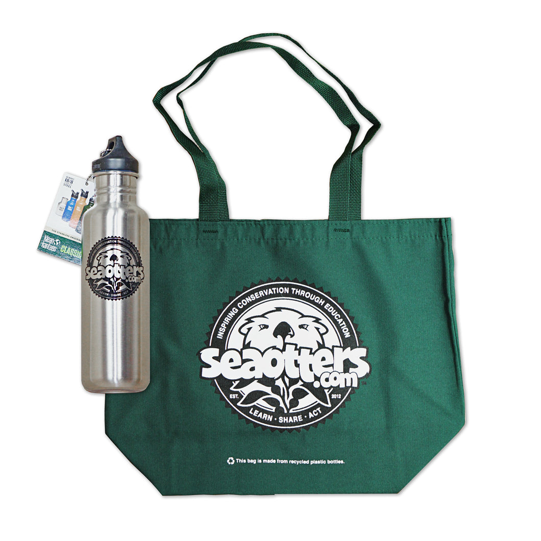 SeaOtters.com Bottle & Tote Combo