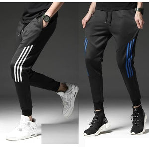 100% Polyester Side Stripes Slim Fit Track Pants (Pack Of 2)