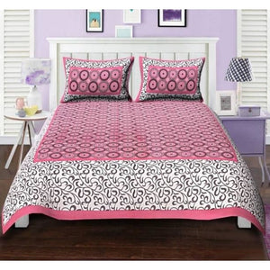 Abstract Printed Cotton Double Bedsheets