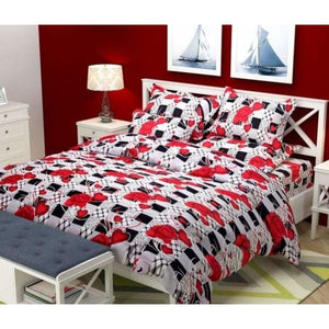 Abstract Printed Polyester Double Bedsheets