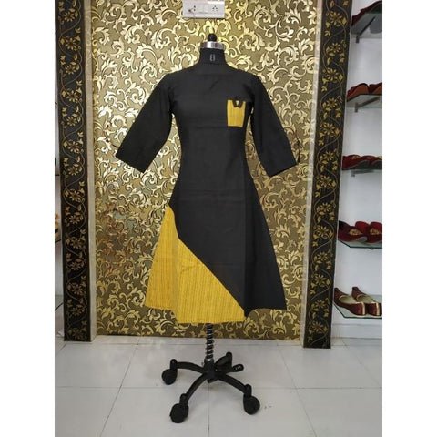 Image of Adorable Cotton Woven Plain Kurti