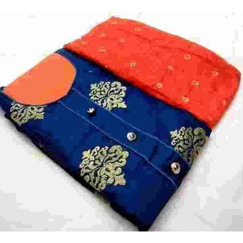 Adorable Poly cotton Embroidered Dress Material