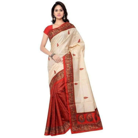 Adorable Poly Silk Printed Regular Saree