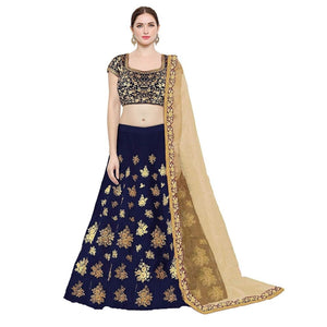 Adorable Taffeta Silk Embroidered Lehenga