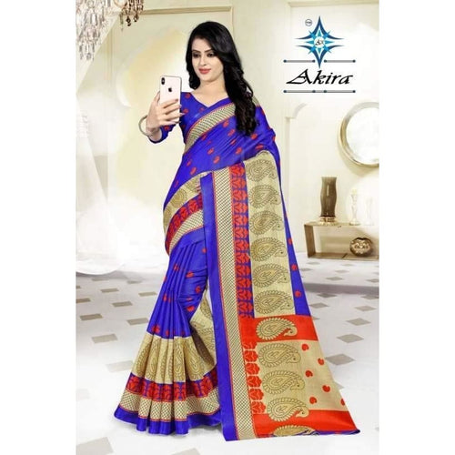 Authentic Khadi Cotton Printed Regular Saree