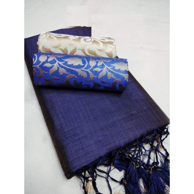 Beautiful Chanderi Plain Regular Saree