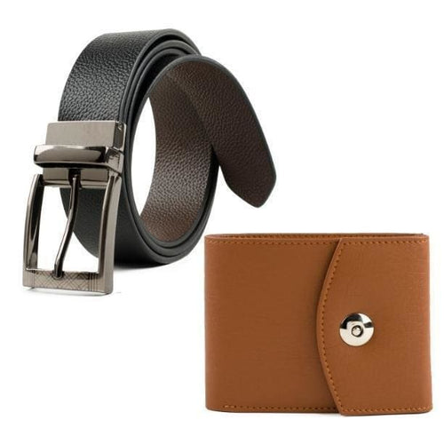 Belt And Wallet Combo For Men
