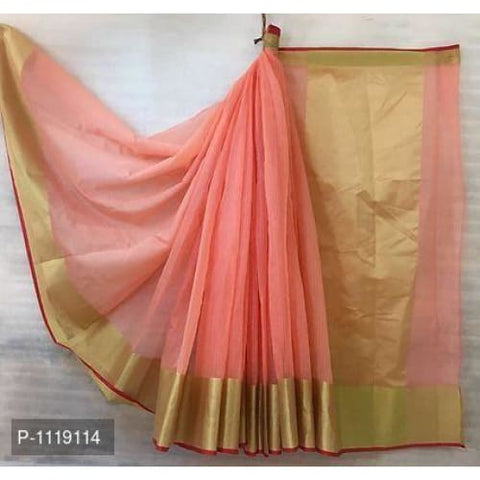 Image of Doriya Cotton Saree (6 Color Design)