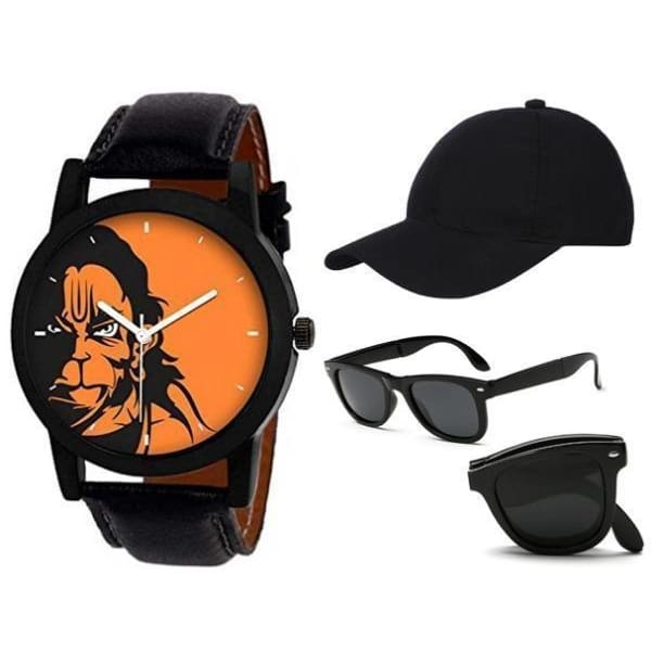 Mens Watch Belt and Sunglasses Combo