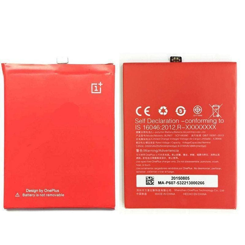 Oneplus X Li Ion Polymer Replacement Battery Blp-607