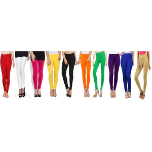 Set Of 10 Cotton Leggings