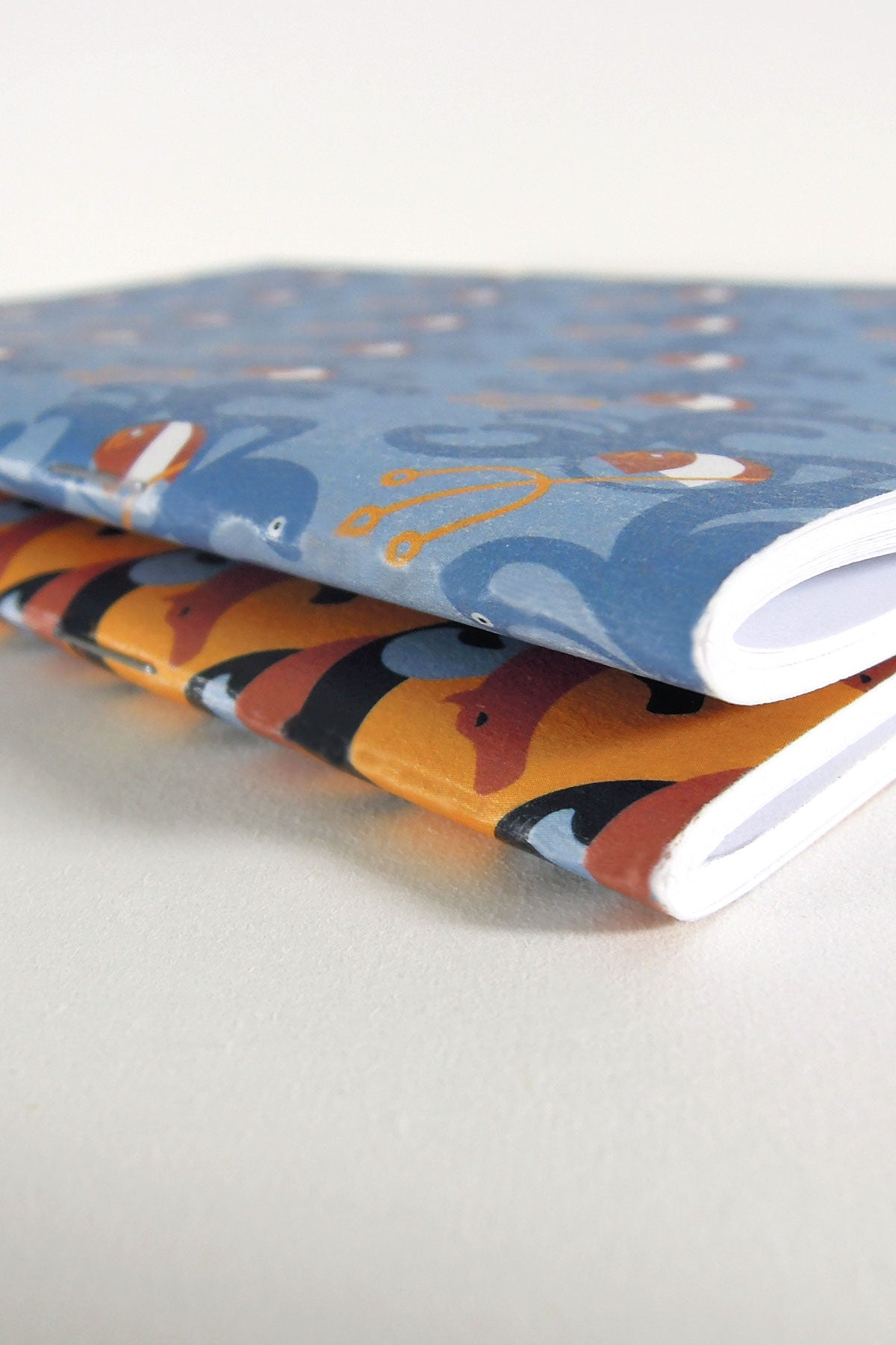 Odyssey limited-edition notebooks. Binding details.