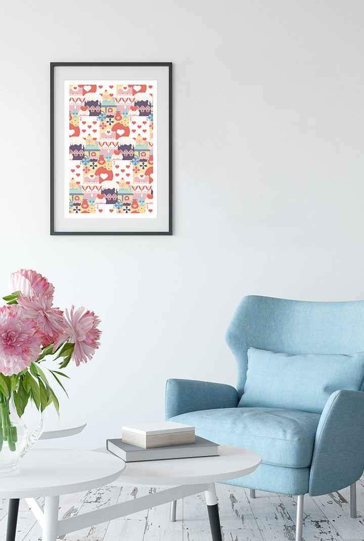 Who stole the tarts? limited edition print designed by Chiara Aliotta