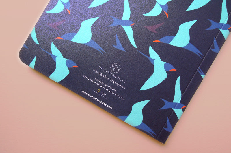 Limited edition artbook inspired by Ino. Designed by Chiara Aliotta and inspired by Homer's epic poem, Odyssey. Available as 1 of 50 copies.