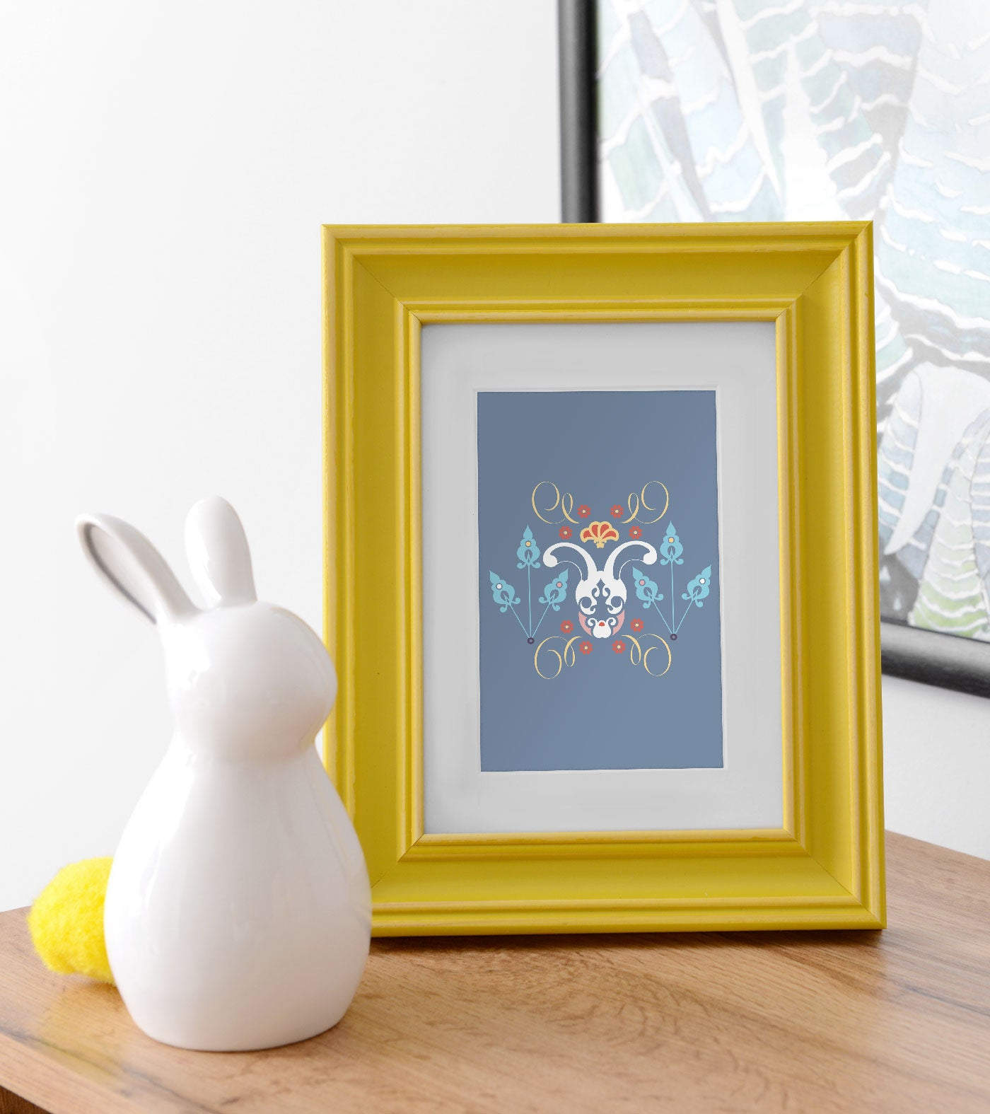 Our limited-edition small cards can be framed to create beautiful, intimate corners.
