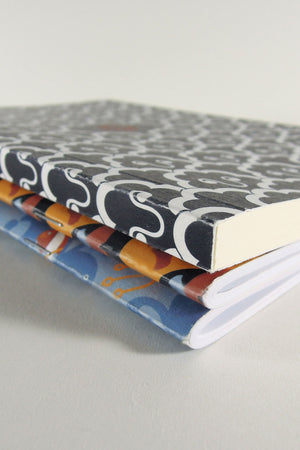 Odyssey limited-edition notebooks and artbook binding detail