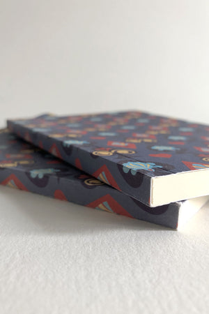 Detail of the binding. The Queen's Croquet Ground Blank Artbook designed by Chiara Aliotta.