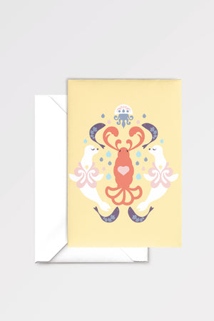 The Lobster Quadrille: limited edition greeting card designed by Chiara Aliotta