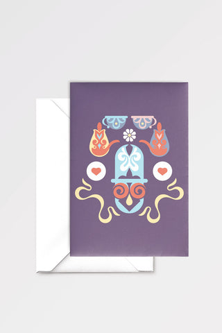 A Mad Tea-Party: limited edition greeting card designed by Chiara Aliotta