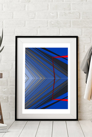 Departure limited edition print designed by Spiros Baras.