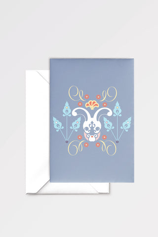 The Rabbit Hole: limited edition greeting card designed by Chiara Aliotta