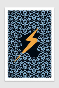 Zeus' Thunderbolt: limited edition print designed by Chiara Aliotta