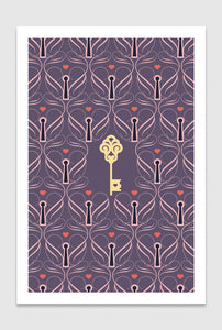 A Tiny Golden Key: limited edition print designed by Chiara Aliotta
