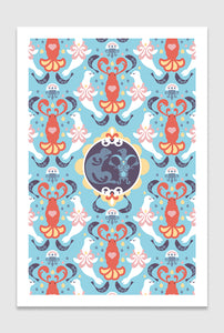 The Lobster Quadrille: limited edition print designed by Chiara Aliotta