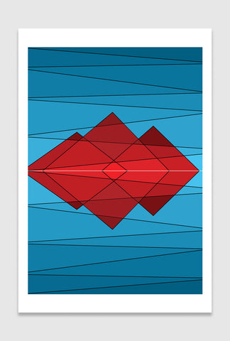 Temples: limited edition print designed by Spiros Baras.
