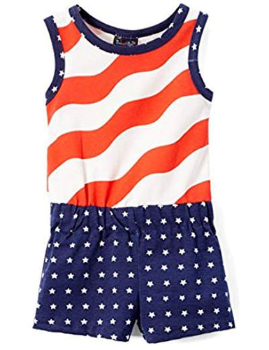 Red Stripe Blue Dot Romper
